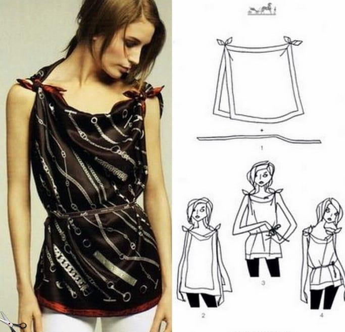 Как платье сделать из платка