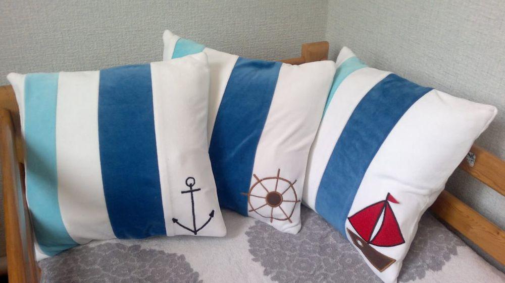 Подушка своими руками морской стиль