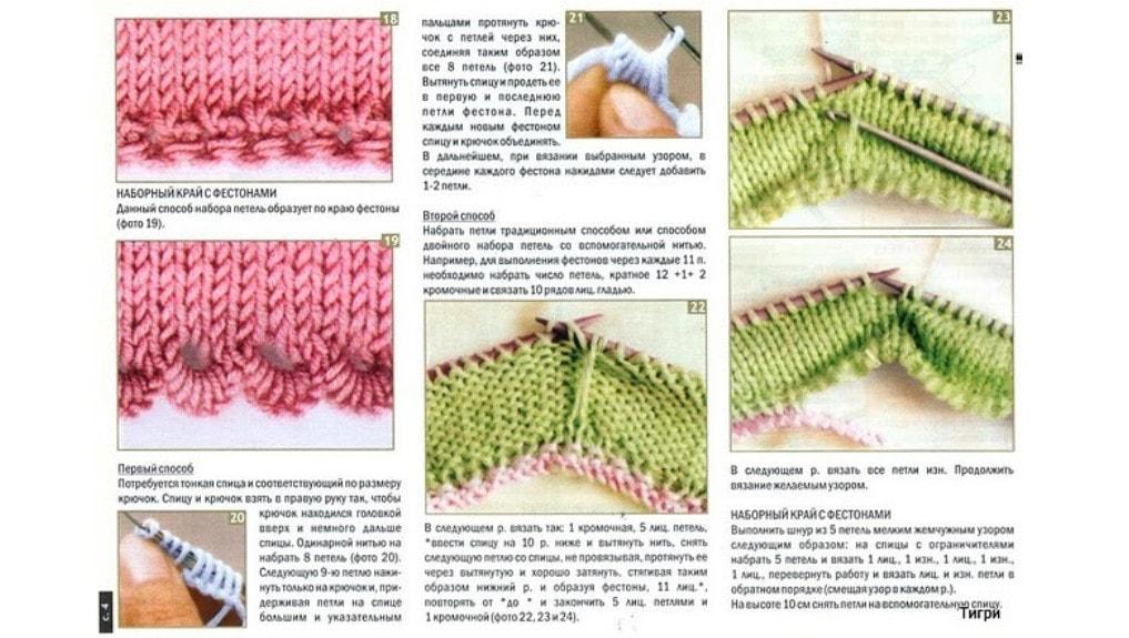 Как красиво заканчивать вязание спицами