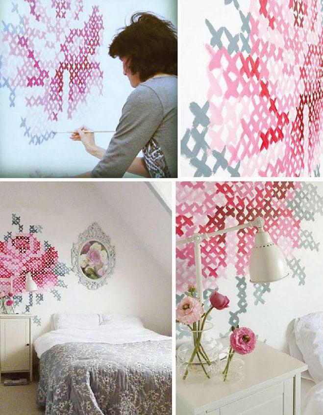 Декор одной стены своими руками