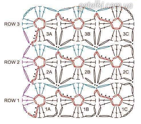 Вязание крючком схемы квадратных мотивов безотрывное вязание 71