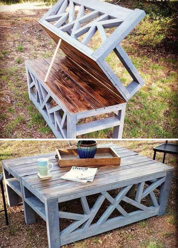 Садовая мебель своими руками стол