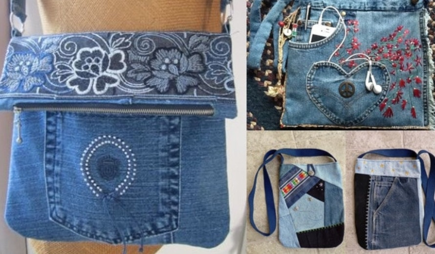 Идеи из старых джинсов своими руками сумки 68