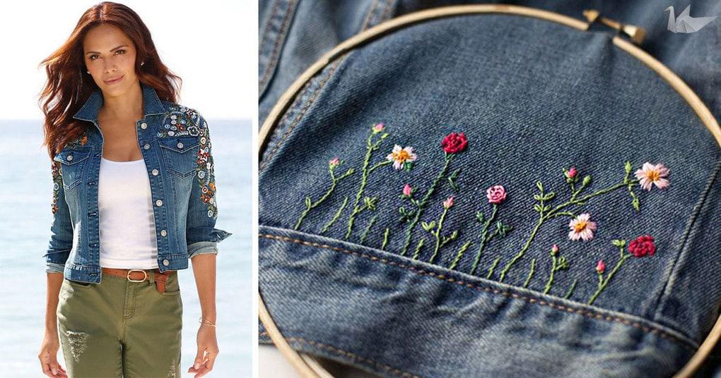 Как обновить джинсовую куртку своими руками 66