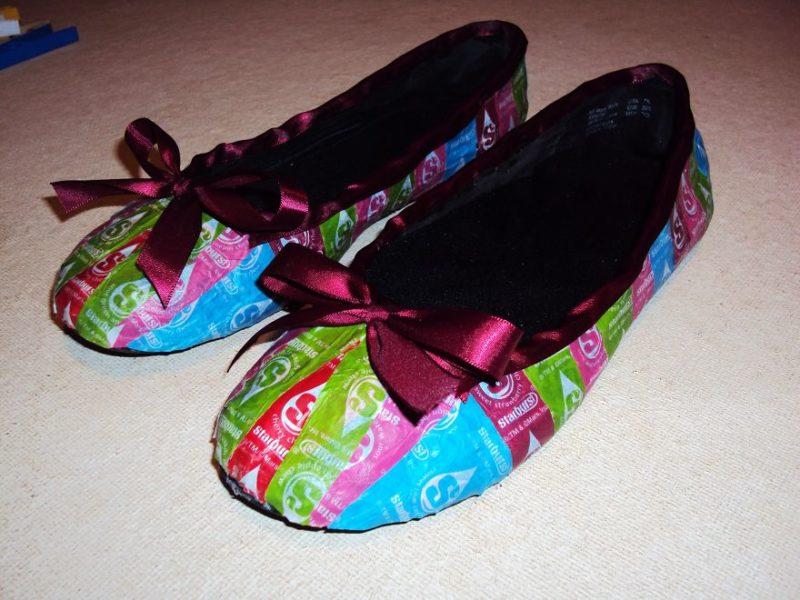 туфли к платью из фантиков