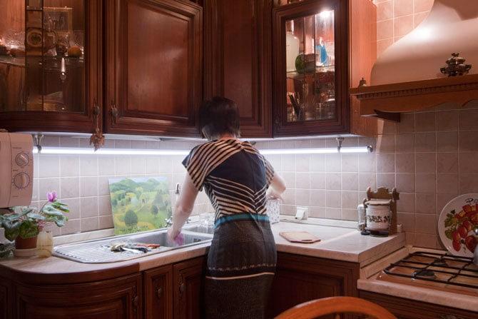 Лед подсветка для кухни