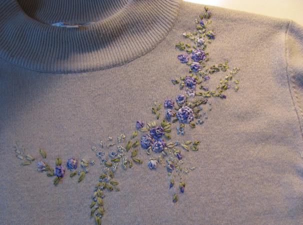 Фото вышивка на трикотаж