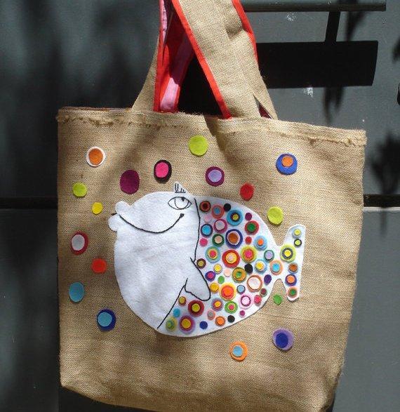 Украсить детскую сумочку своими руками