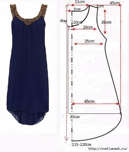 Сшить простое платье из шифона