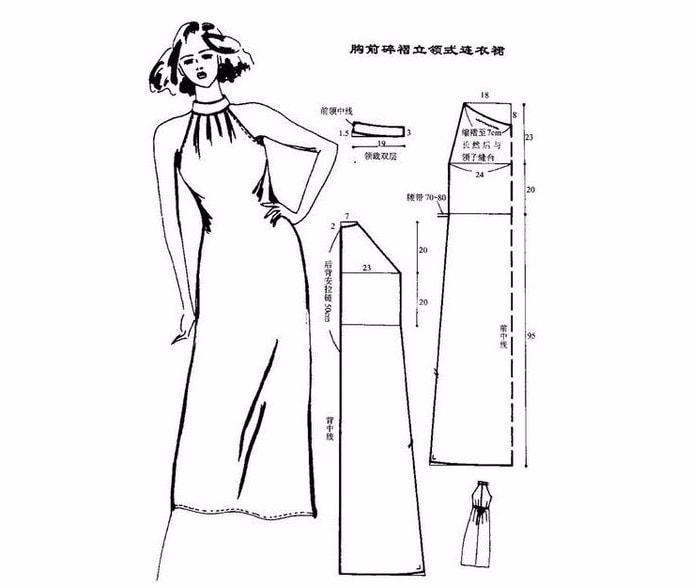 Выкройки платья в пол для начинающих простые выкройки