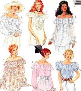 Платье крестьянка выкройка