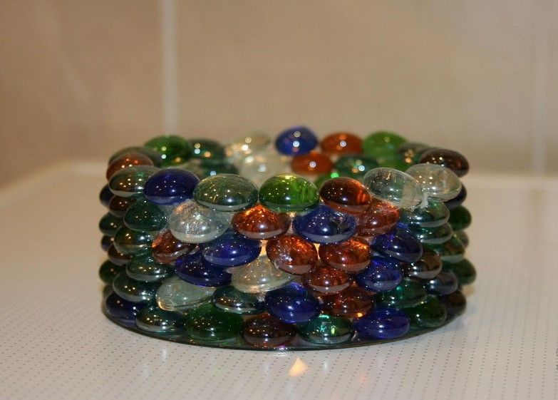 Поделки из стеклянных камней своими руками