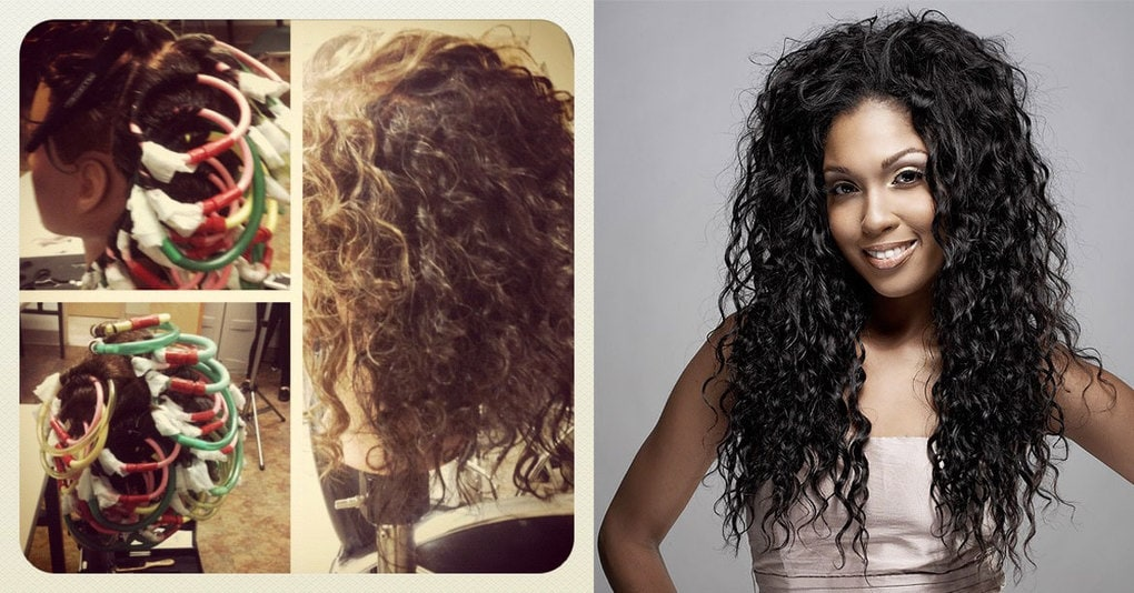 Как сделать мелкие кудри на волосах 359
