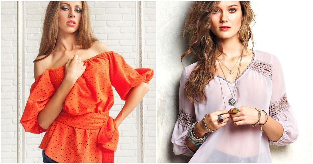 Основа для блузы-«крестьянка» за 30 минут