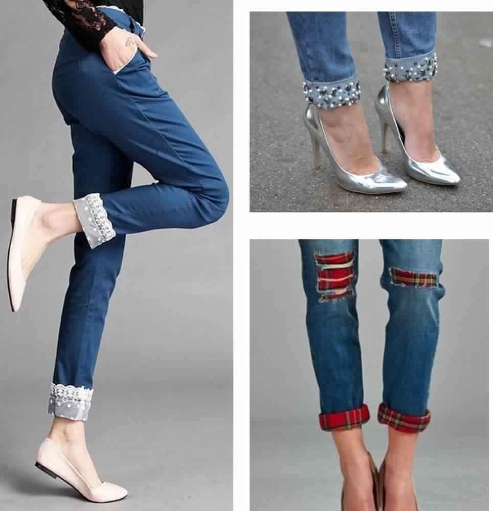 Как из старых джинсов сделать новые