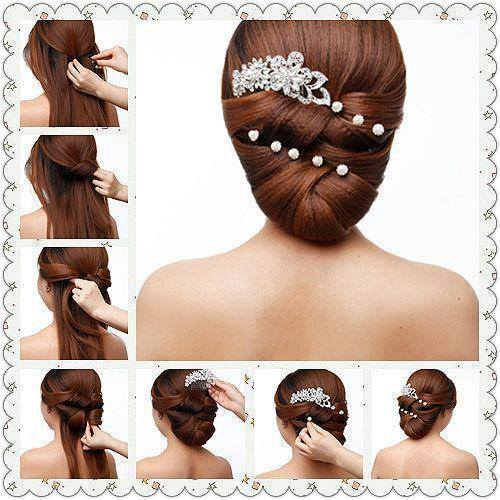 Причёски на длинные волосы с чёлкой в домашних условиях своими руками по шагово