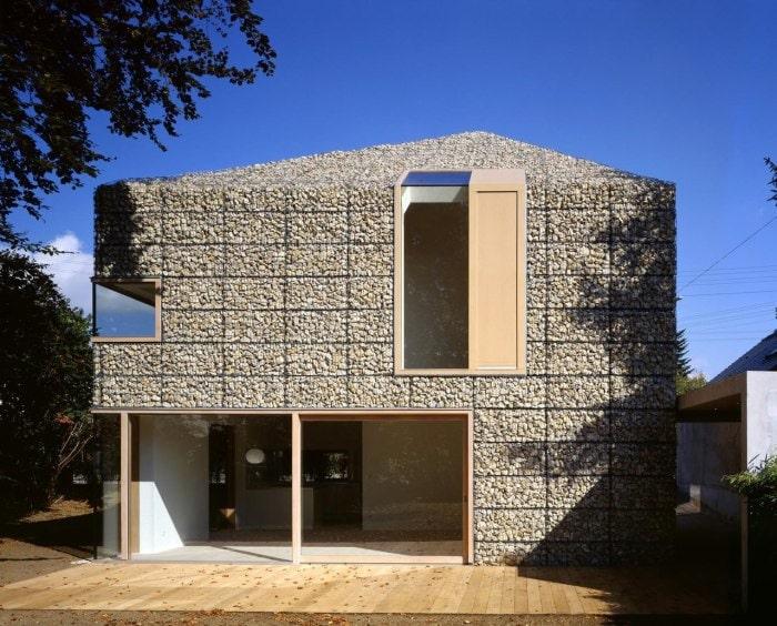 зимней фасад дома из габионов как делать выборе подумайте