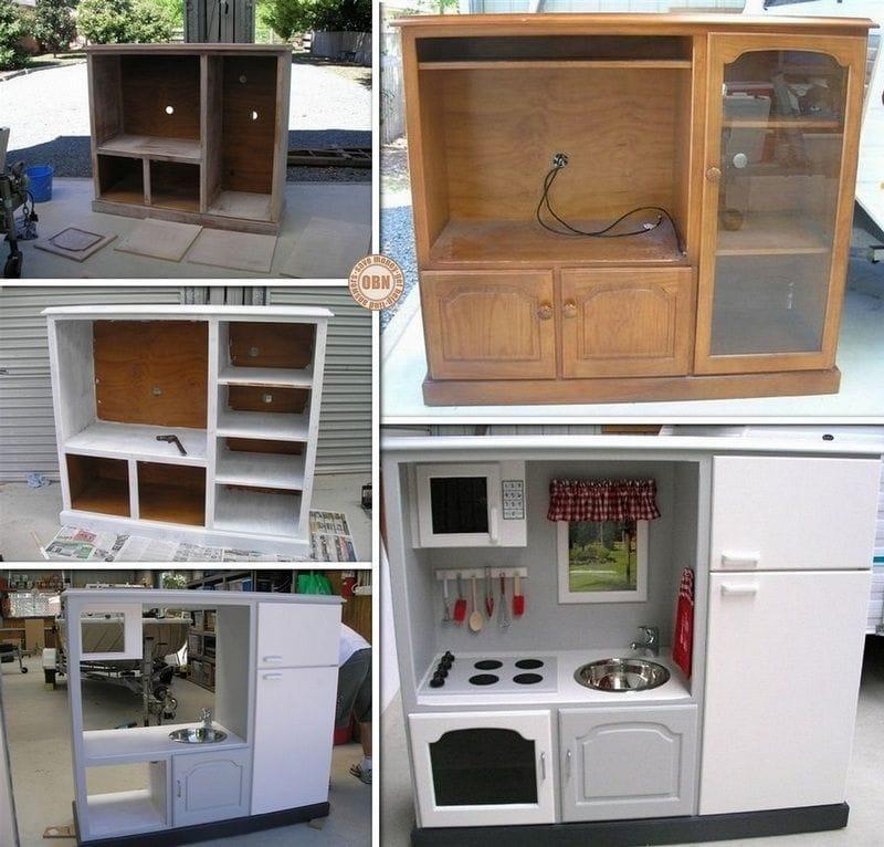 Кухня для дочки своими руками из старой мебели 59
