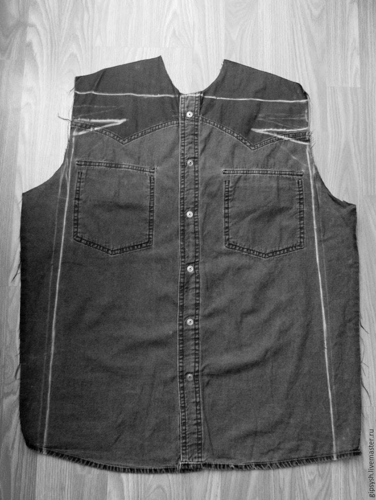 Как из джинс сшить рубашку 99