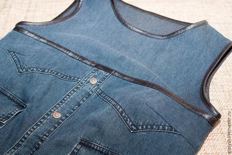 Как из джинс сшить рубашку 70