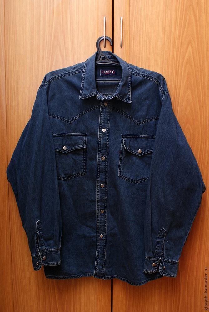 Как из джинс сшить рубашку 36