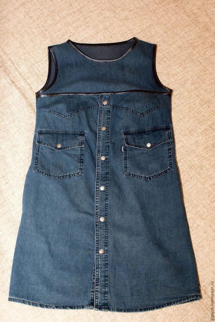 Как из джинс сшить рубашку 73