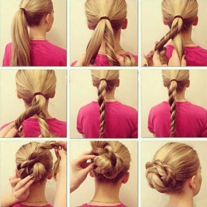 простая прическа на средние волосы сделать самой