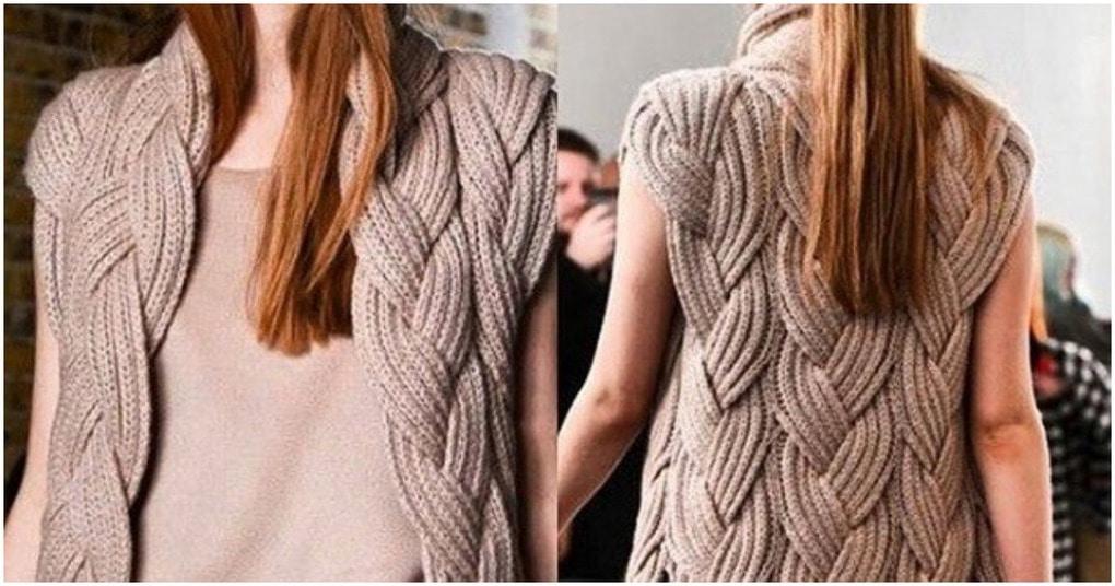 Вязание спицами косы - легко и красиво