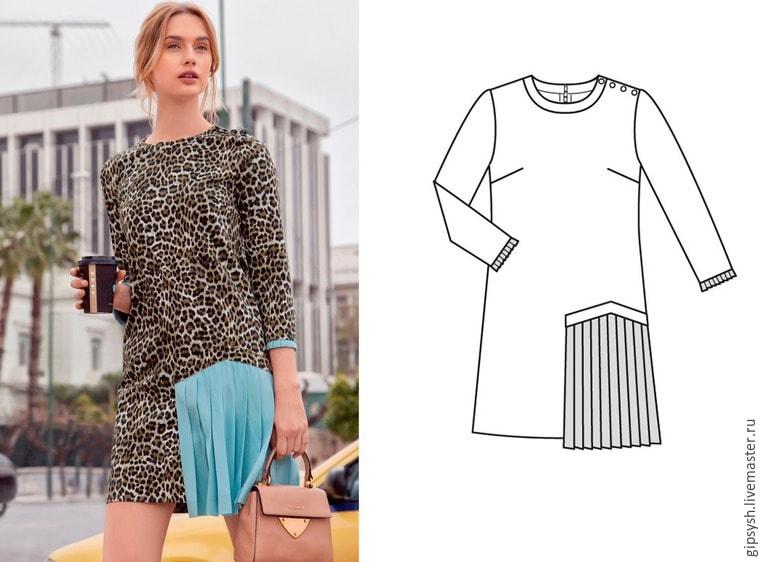 Как сшить рубашечное платье 702