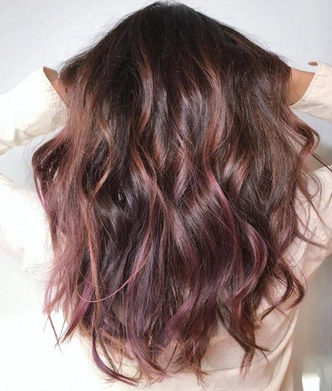 Шоколадная лилия окрашивание волос