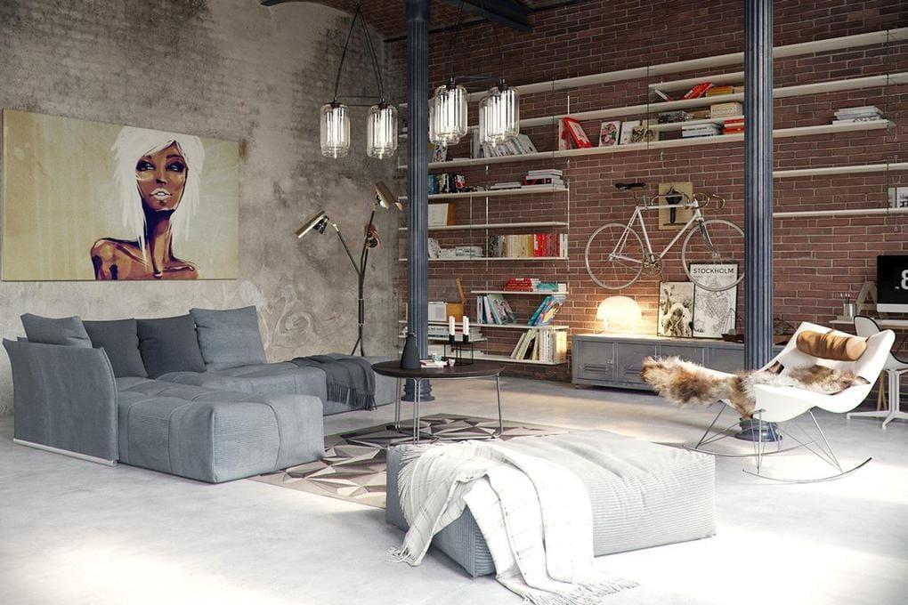 Innenarchitektur industriellen stil karakoy loft