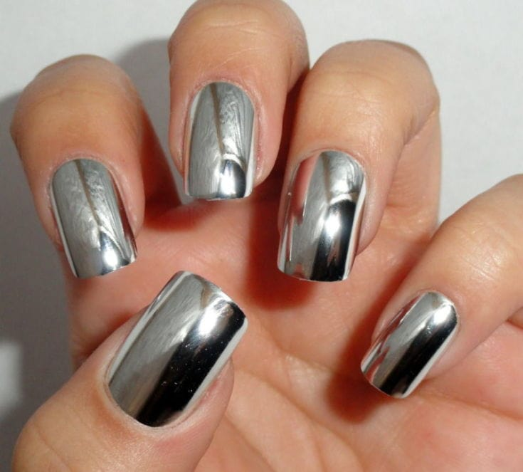 хромированные ногти