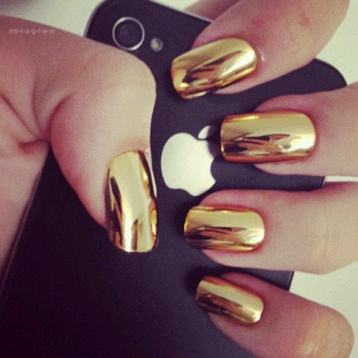 золотой металлик лак для ногтей