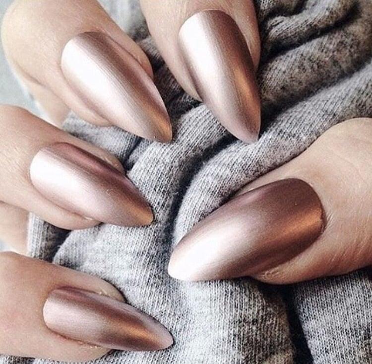 хромированные матовые ногти