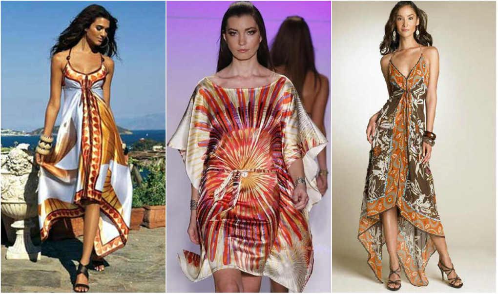 Как сшить платье из двух платков своими руками фото 16