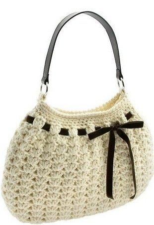 2fa7141026c3 Оригинальная летняя сумка размером 25х25 см. связана крючком. Схема вязания сумки  крючком