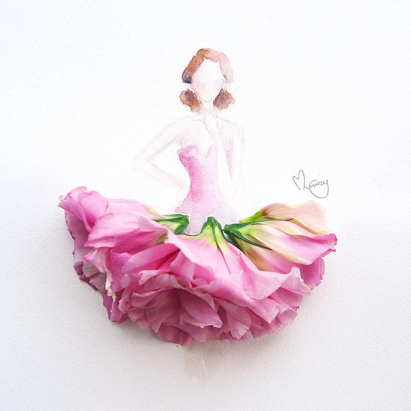 Картинки с платьями для девушек своими руками