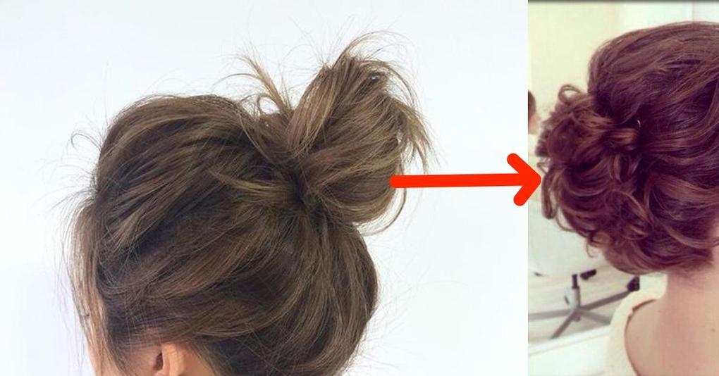 Как сделать гульку если волосы длинные и 294