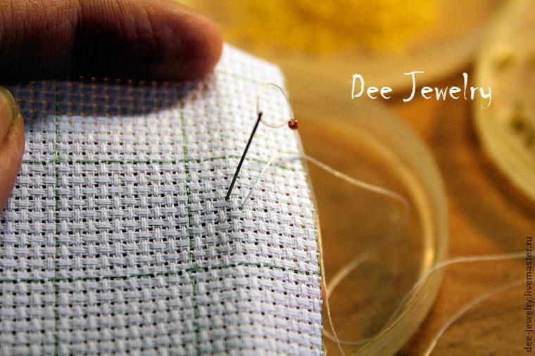 Вышивка бисером в одну нить