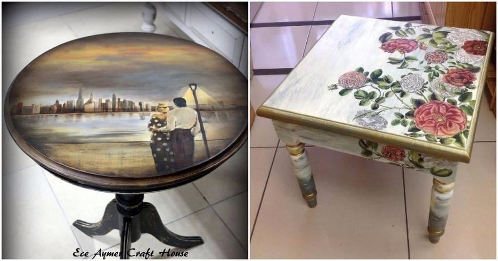 Как декорировать старый стол своими руками 601