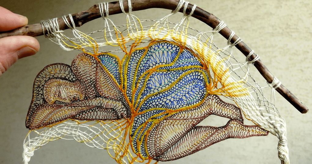 lace embroidery art sculpture agnes herczeg fb