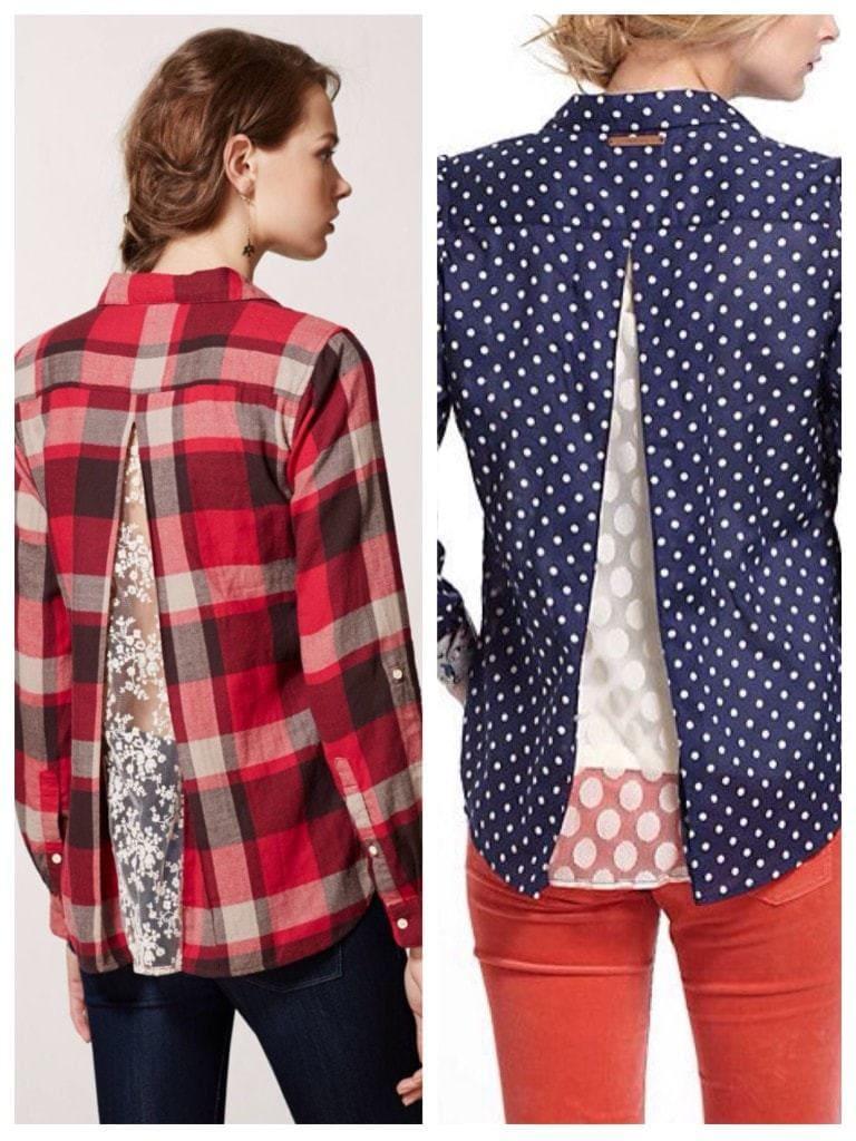 Как увеличить размер блузку своими руками 809