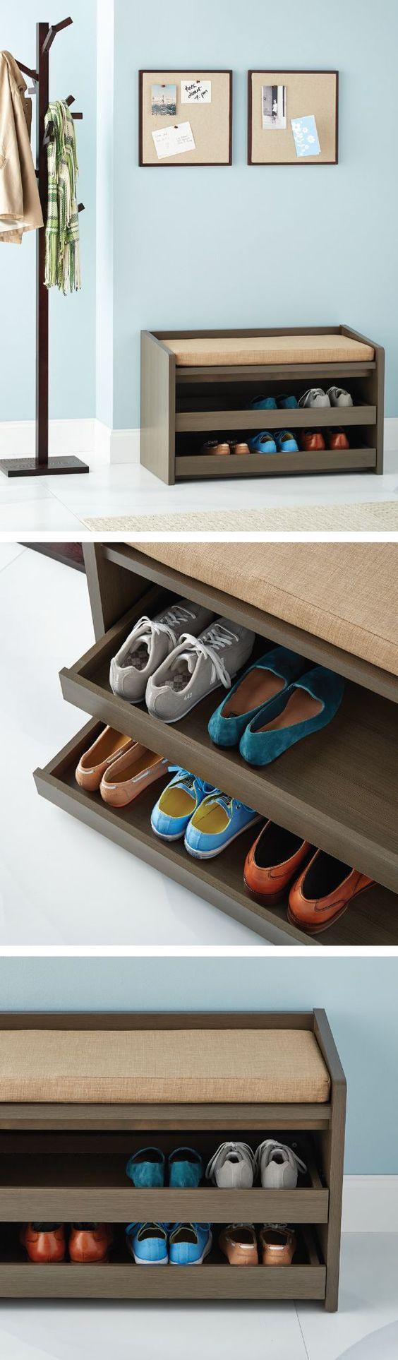 Фото обувных полок своими руками