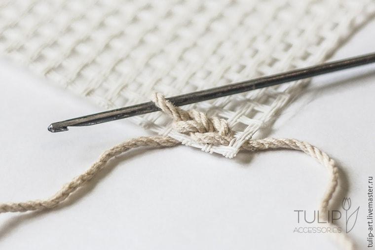 Вязание ковриков крючком по канве 84