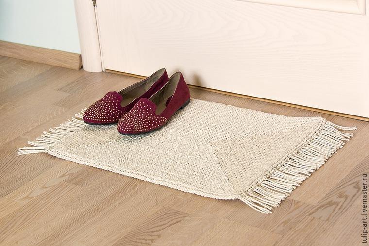Вязание ковриков крючком по канве 29