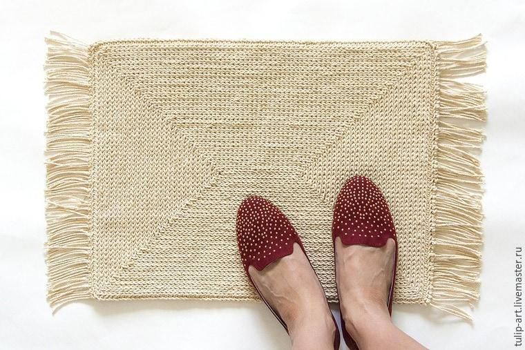 Вязание ковриков крючком по канве 1