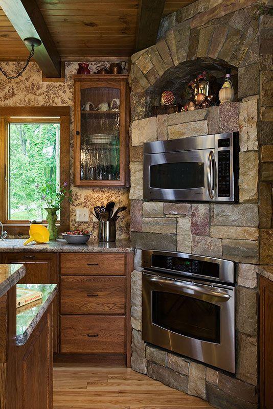 Ремонт кухни в деревенском доме своими руками с печкой 39