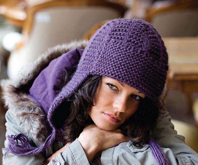 Вязание шапок пошагово спицами