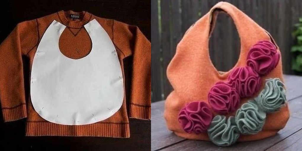 Что можно сшить из старого свитера своими руками 48
