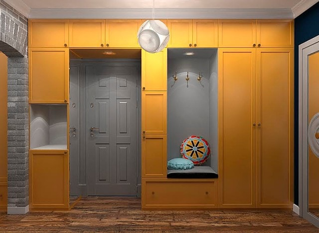 Шкаф вокруг дверей своими руками